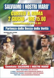 ROMA – 2 GIUGNO – INSIEME PER I NOSTRI MARO'